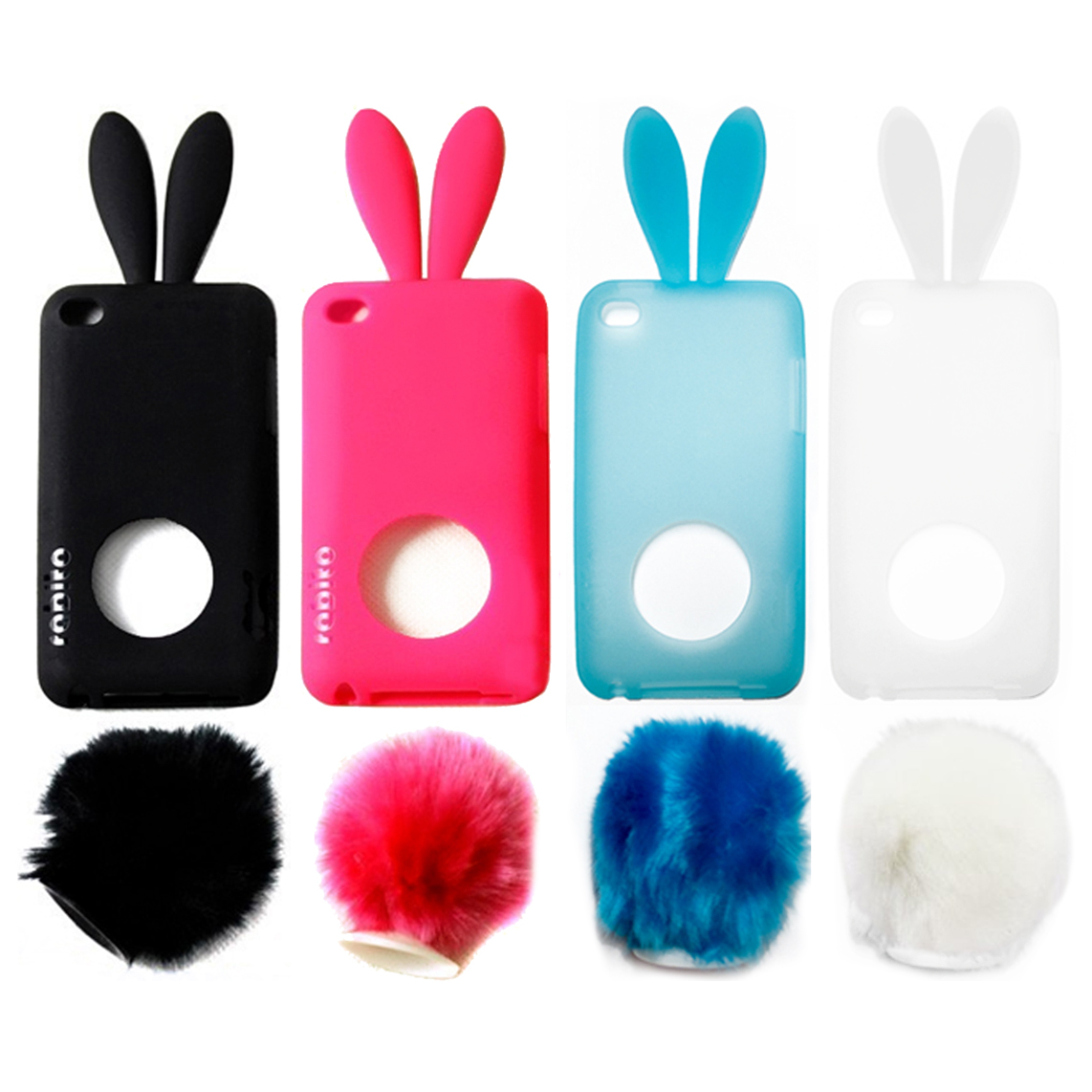 Case for ipod touch 4 4g cute animal case free shipping 10pcs lot
