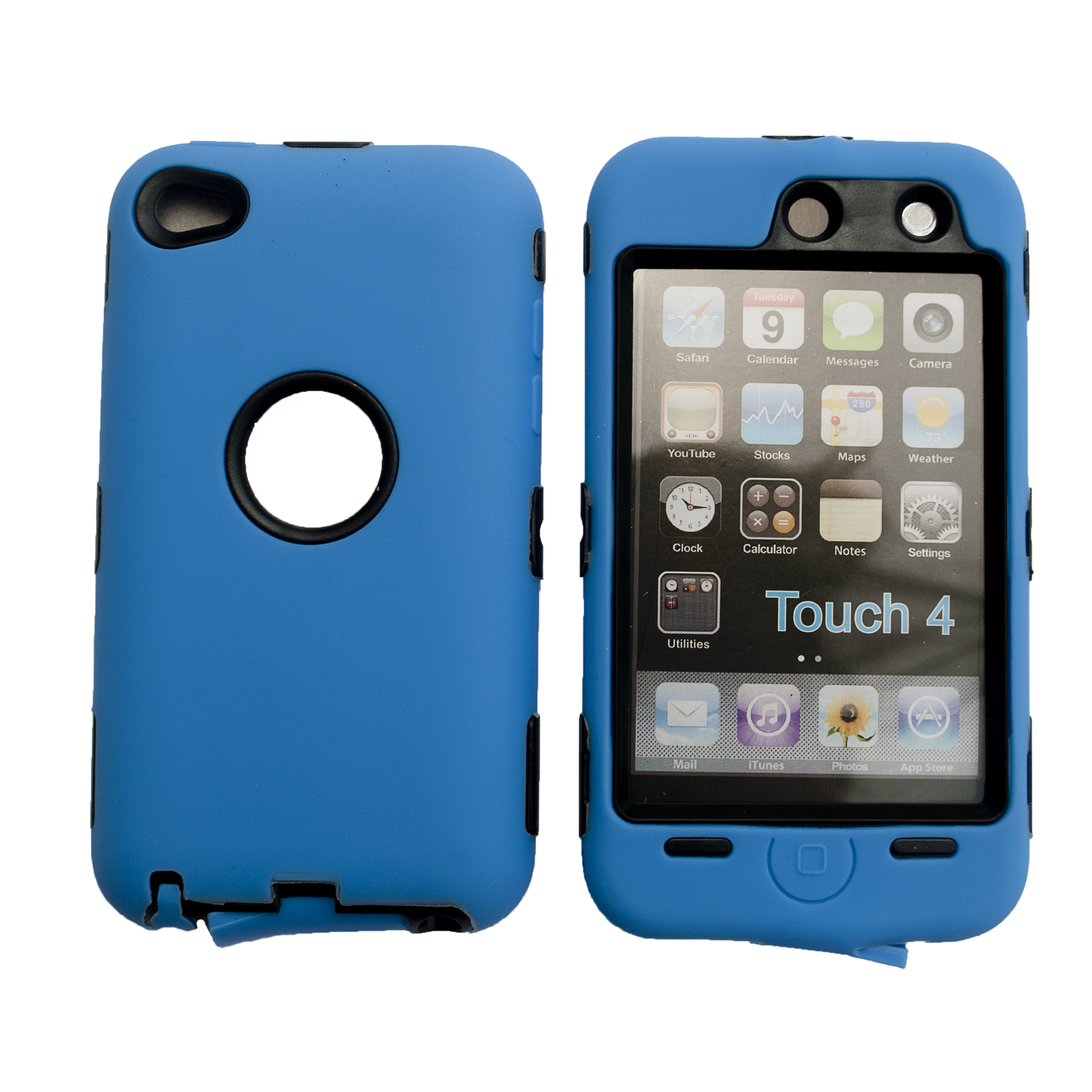 Deluxe Hybrid Hard Soft Case for iPod Touch 4 4G Screen Protector Cleaning Cloth eBay