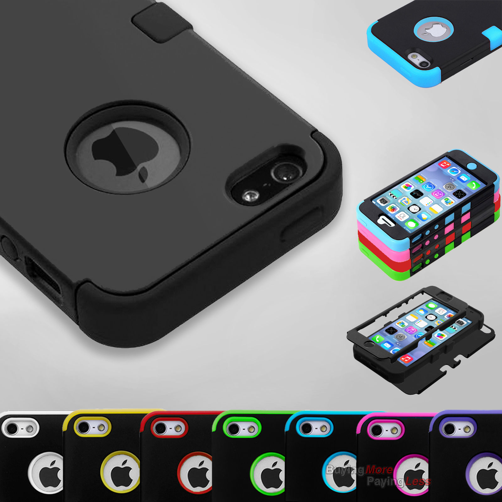Squishy Case For Iphone 5s : Hybrid Shockproof Hard&Soft Rugged Cover For Apple iPhone SE Case iPhone 5 5s